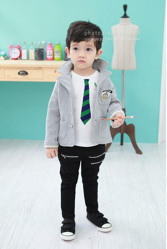 96db4e5982b 2019 Hot Handsome Children Boys Casual Grey Jackets + White T Shirt+ Pants  Autumn Clothing Set From Worldtrade68