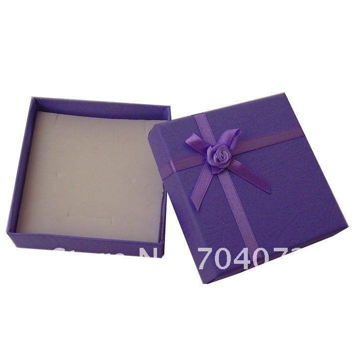 freies Verschiffen 8 * 8 * 2cm jewerly zusätzliches buntes Verpackungshalskettenarmband-Ringohr des Geschenkkastenquadrats