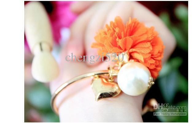 Marguerite de l'amour fleurs en mousseline bracelets bracelets de perles