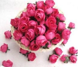 """Wholesale Artificial Hot Pink Roses Wholesale - Type-4 100pcs Hot pink Roses Artificial Silk Flower Heads Wedding Bridal Bouquet Decoration 1.18"""""""