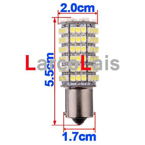 プロモーション50ピース120 SMD 3528 LED 1156 BA15Sピュアホワイトターン信号LEDライトブレーキパーク電球ランプ