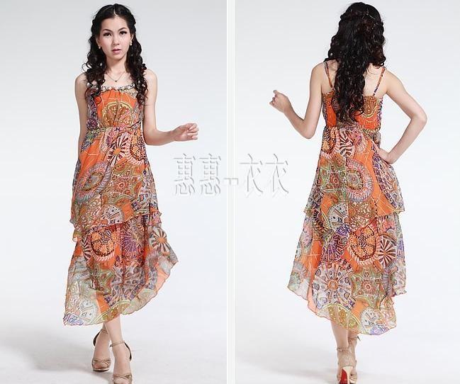Lady S One Piece Dress Indian StyleGreen 48bb32f36921