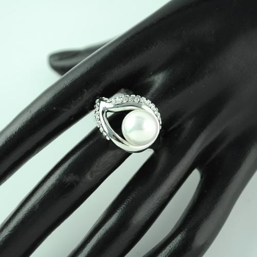 Blatt und Perle Ringe, schöne Ringe Schmuck für Frauen, Strass Charme Legierung Schmuck. RN-494