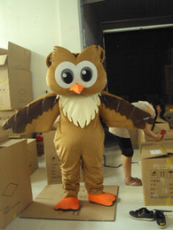 Wholesale Eagles Mascot Costume - Adult Brown Eagle Mascot Costumes Party Costumes Free Shipping