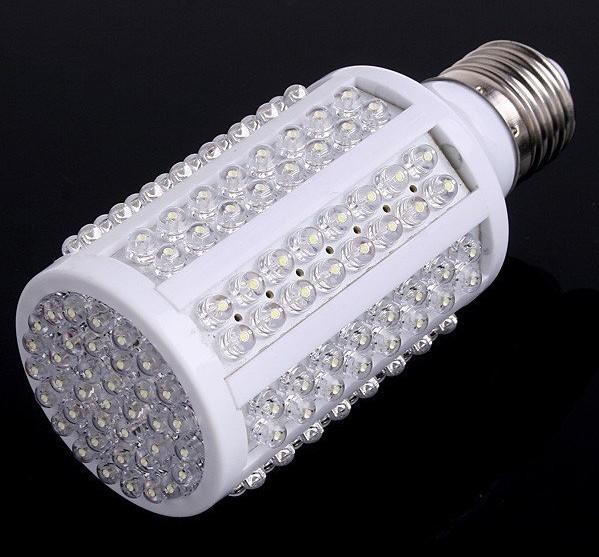 Billiga LED Corn Bulb E27 720LM 220V / 110V 7W 166 LED-lampa Vit Spotlight 360 grader LED-belysning