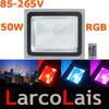 50W RGB Color Change LED Flood Light Outdoor Lamp Remote Control IP65 85-265V