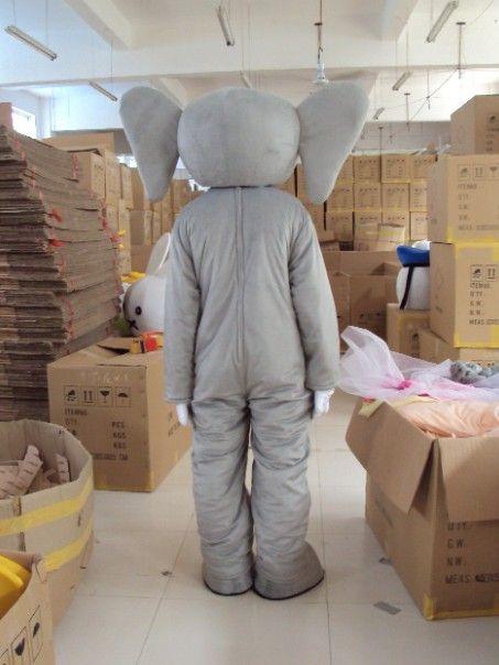 Adulto personalizado de felpa gris elefante trajes de la mascota envío gratis