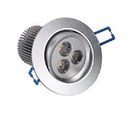 12v led açık beyaz toptan satış-9 Watt 3x3 W LED Gömme Tavan Armatürü Aşağı Işık Kiti Sıcak Beyaz Downlight 12 V 10 adet