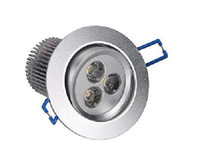 led ceiling downlight kit Canada - 9Watt 3x3W LED Recessed Ceiling Fixture Down Light Kit Warm White Downlight 12V 10pcs