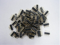 Wholesale Male Connector Led - 4-pin Male Connector Adapter for RGB LED Strips LED Light 100PCS