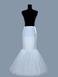 Wholesale Trumpet Bridal Slips - Fishplate Mermaid Wedding Petticoat Underskirt Bridal Crinoline Slip For Wedding Dresses