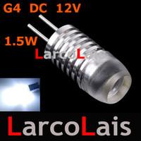 Wholesale G4 Bulb Pure White 12v - 10pcs G4 1 LED lights bulb DC 12V 1.5W high power lighting warm pure white lamp Landscape Chandelier
