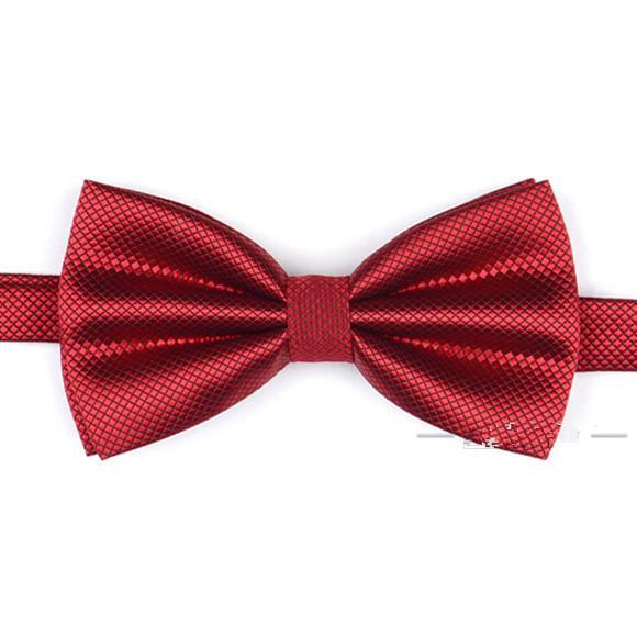 Clásico en caja elegante noble satinado color sólido nupcial / novio bestman corbatas fiesta corbata arco de negocios
