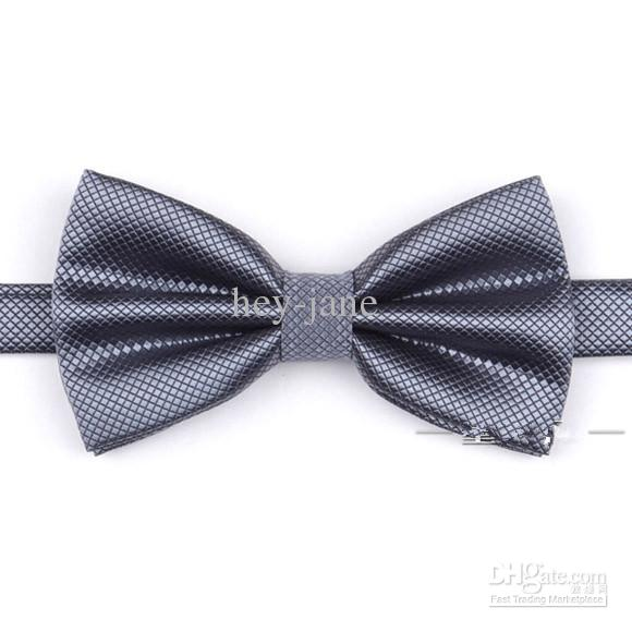 Classique en boîte élégant noble satin couleur solide couleur bride / marié besman ties cravate de fête