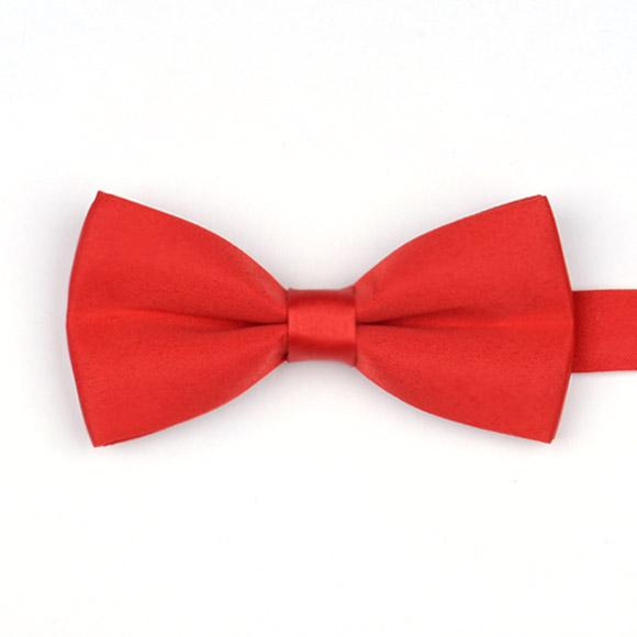 Envío gratis Elegant Satin Solid color Novio bestman Ties