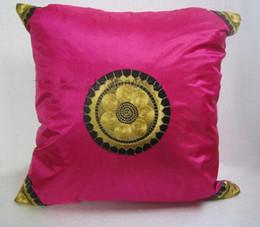 Wholesale Cheap Wholesale Pillows - Purple Cushion Pillow Covers Beautiful Cheap Satin Sun Pattern 6pcs pack Free
