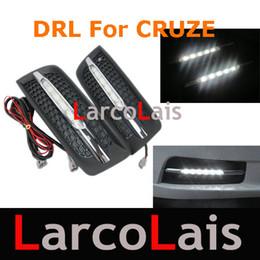 Wholesale Cruze Lights - 2pcs 1set LED Fog Lamp Lights Bulb For Chevrolet CRUZE 2009 2010 2011 Car Daytime Running Light