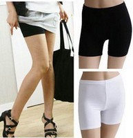 Wholesale Silk Safety Pants - Hot New Summer wild ice silk pants safety pants anti emptied pants Leggings boxer body sculpting 328