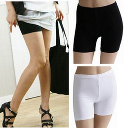 Wholesale Lycra Short Leggings - Hot New Summer wild ice silk pants safety pants anti emptied pants Leggings boxer body sculpting 328