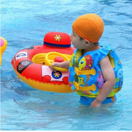 Wholesale Ems Free Vest - lovely cartoon play fish children life jacket life vest inflatable vest swimwear EMS free shipping