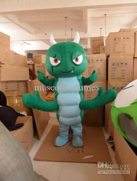 Adulto tamaño personalizado verde gusano trajes de la mascota envío gratis por encargo cualquier tamaño cualquier color