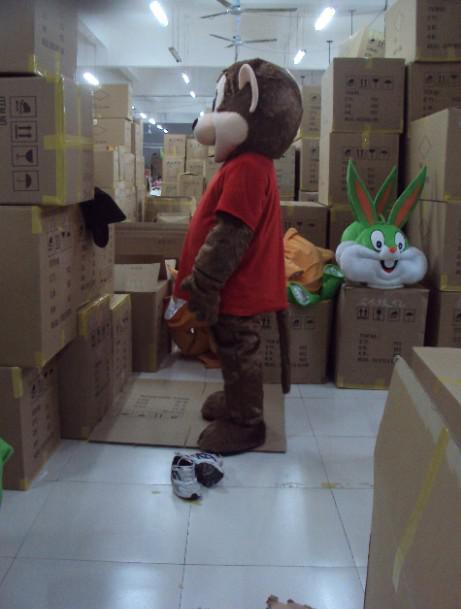 Taille adulte Custom Singe En Peluche Mascotte Costumes Livraison Gratuite Custom Made Toute Taille Toute Couleur