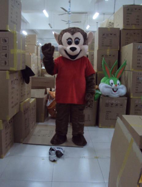 Trajes da mascote do luxuoso do macaco do tamanho feito sob encomenda do adulto frete grátis feito-à-medida todo o tamanho alguma cor