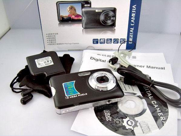 DC520 12MP спортивная цифровая камера 2.7-дюймовый ЖК-экран 8x зум VGA 640*480 30 кадров в секунду 10 шт.