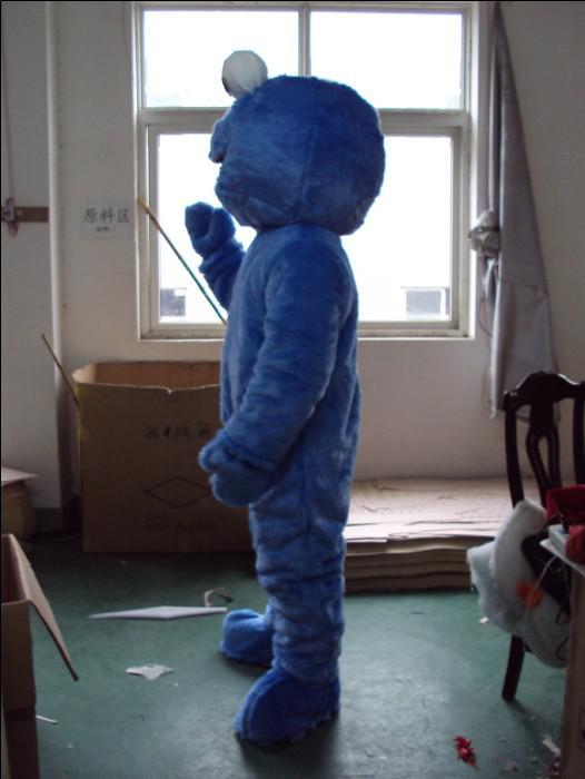 Erwachsene blaue Plüsch-Plätzchen-Monster-Elmo-Maskottchen-Kostüme Freies Verschiffen nach Maß jede Größe irgendeine Farbe