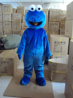 Wholesale Elmo Adult Mascot - Adult Blue Plush Cookie Monster Elmo Mascot Costumes Free Shipping Custom Made Any Size Any Colour