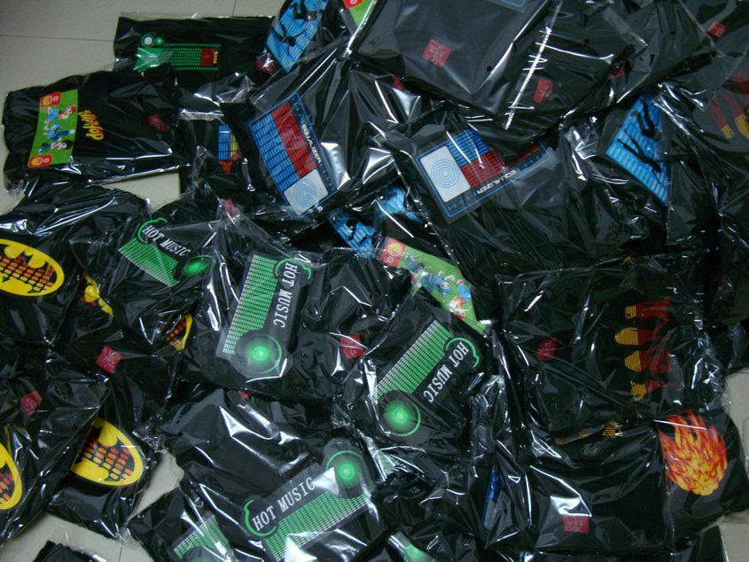 / EL T 셔츠 LED T 셔츠 LED 점멸 T 셔츠 EL T 셔츠 송료 무료