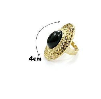 Anillos de piedras preciosas talladas ovales más populares de la vendimia con estilo del caramelo de las mujeres ajustables 60pcs
