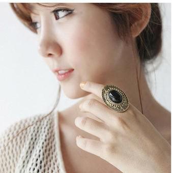 Anéis de pedras preciosas esculpidas Oval Vintage mais popular elegante doces cor ajustável 60pcs das mulheres