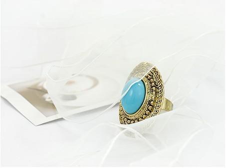La plupart des anneaux de pierres précieuses sculptés ovales vintage populaires de couleur de bonbons réglables 60pcs des femmes réglables