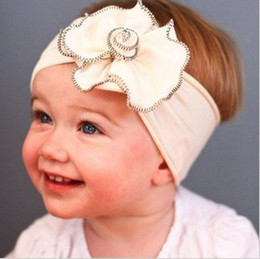 Wholesale Organic colored Rose Headband hair toddler girls flowers Baby Hairbows Headbows Children Head Access