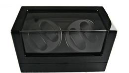 Wholesale Display Leatherette - 4 WATCH BLACK LEATHERETTE WATCH WINDER DISPLAY CASE BOX AUTOMATIC ROTATION Ladies Watch Men's Watche