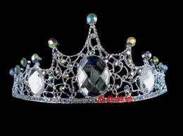 Wholesale Headdress Jewelry Wedding - Attractive Rhinestone Bridal Jewelry Headdress Crystal Crowns Wedding Tiara Tiaras Hair Accessories