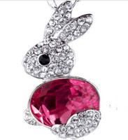 Wholesale Necklaces Bunny Rabbit - New Design Year of the Rabbit transporter crystal diamond bunny necklace