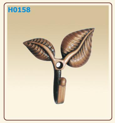 best selling Two Leaves Door Hooks Bronze Hangers Coat and Hat Hook Curtain accessaries able mix order