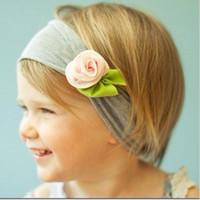 Wholesale Babies Headbands Wholesale China - Petite Victorian rose headband head band TOP BABY Headband in stock 5 pcs free shipping by China