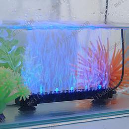Wholesale Bubble Air Pump - 2pcs I97 Carminative Air Aquarium Fish Tank Air Pump Blue 6 LED Bubble Light