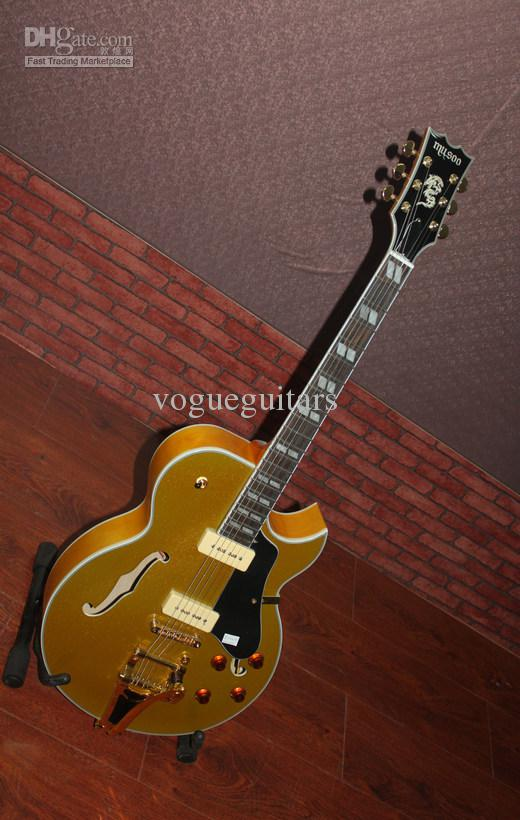 Musical instruments Newest Goldtop Hollow Bigbys Jazz Guitar VOS Guitar Best New Arrival