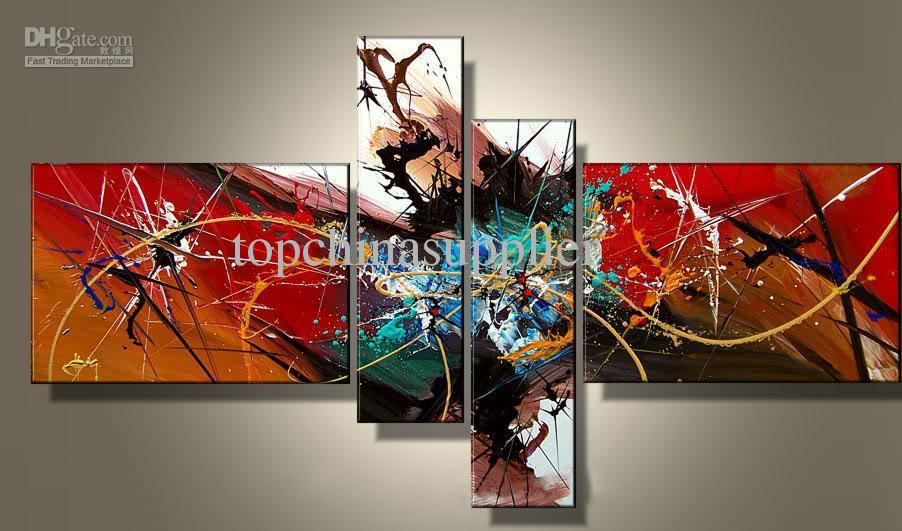 Kunst moderne abstracte olieverfschilderij cool beste schilderij abstractie kleurrijke expressie 2012 te koop