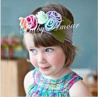 Wholesale Top Hat Head Bands - Retail Headband Infant Toddler Newborn Girls Head Band Top Baby Baby Hats Girl Boy Hat Headband Fashion Cap