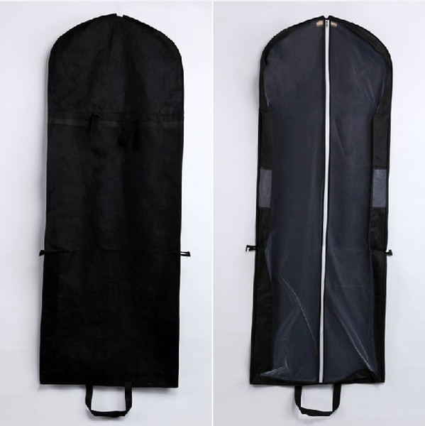 top popular Factory Sale Black Dust Cover Bags Non woven Fabric and Tulle for Dresses and Gowns 10pcs lot 2019