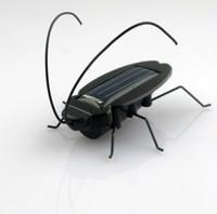 Wholesale Fun Office Gadgets - Solar Power Energy Cockroach Fun Gadget Office School Dropshipping 10pcs