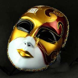 Wholesale Music Theme Gifts - On Sale Venetian Masks music theme full face party mask Costume Masquerade party Thanksgiving Gift 20pcs lot free shipping