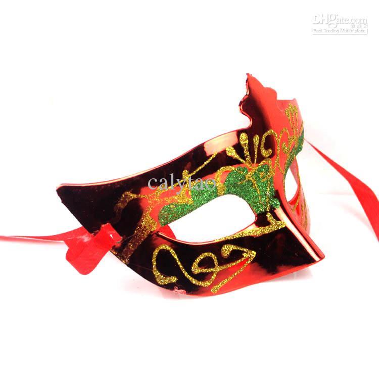 Verkauf von Party-Masken Halloween-venetianische Tanzmaske Gold-Maske überzogen Parteischablonen Darth Vader Requisiten Mardi Gras Maske glänzend Maskerade