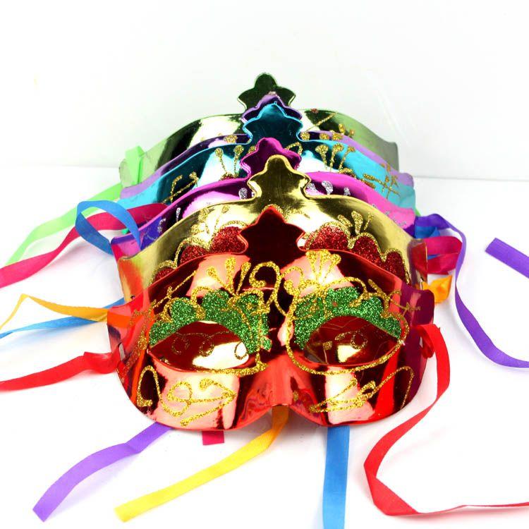 em Máscaras venda do partido da máscara de Halloween Venetian ouro Máscara de dança brilhando máscaras do partido banhados adereços Darth Vader masquerade máscara gras