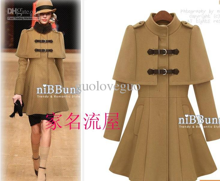 2017 2012 New Women Europe America Fashion Winter Coats Cloak Type ...